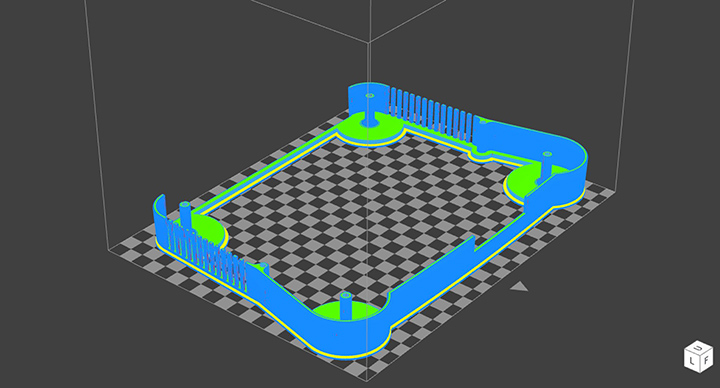 A barebones 3D model of 64Mate on GrabCAD