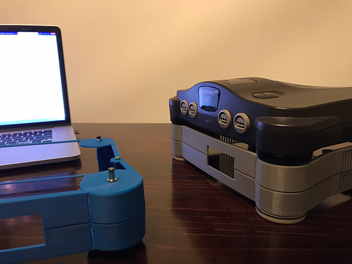 Prototype shells of the 64Mate add-on for N64.