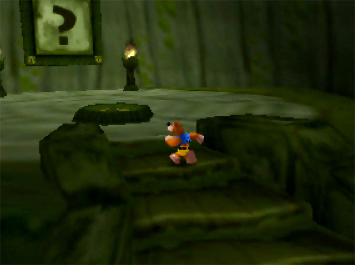 Exploring the Fairy Woods labyrinth in Banjo Kazooie: The Bear Waker mod for N64.