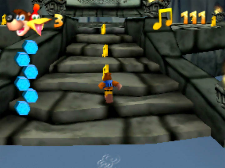 Jabun's Cave area in The Legend of Banjo-Kazooie: The Bear Waker on N64.