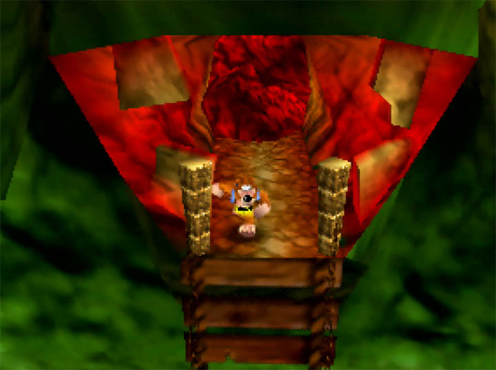 The now-blocked entrance to Gruntilda's Lair in Banjo-Kazooie: The Hidden Lair on N64