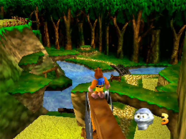 The Harvest Hills stage in Banjo-Kazooie: The Hidden Lair for N64