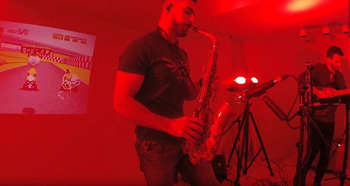 Dog Drive Mantis saxophonist performing a Mario Kart 64 jazz fusion cover