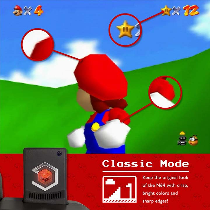 Classic mode video output on the EON Super 64