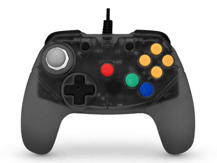 Retro Fighters' Smoke Gray Brawler 64 controller
