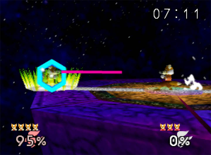 No items. Fox only. Final Destination in Super Smash Bros: More Stages Edition for N64