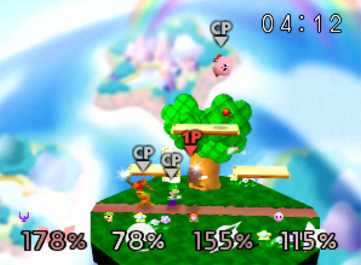 A small stage similar to Kirby's Dream Land in Super Smash Bros: More Stages Edition for Nintendo 64