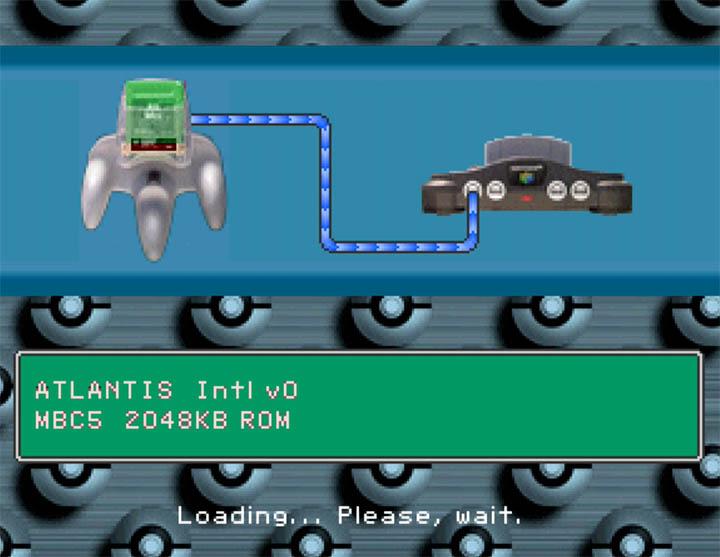 Loading a Game Boy game in Standalone Stadium Game Boy Emulator - a hack of Pokémon Stadium 2.