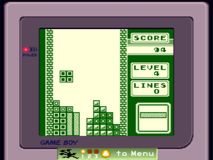 Tetris running on an N64 through Standalone Stadium Game Boy Emulator, created by Zoinkity