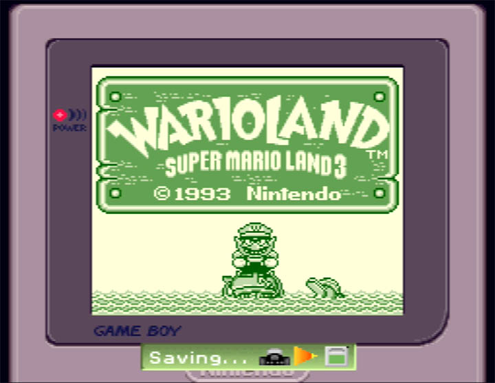 Wario Land 3 running on the Standalone Stadium Game Boy Emulator hack by Zoinkity