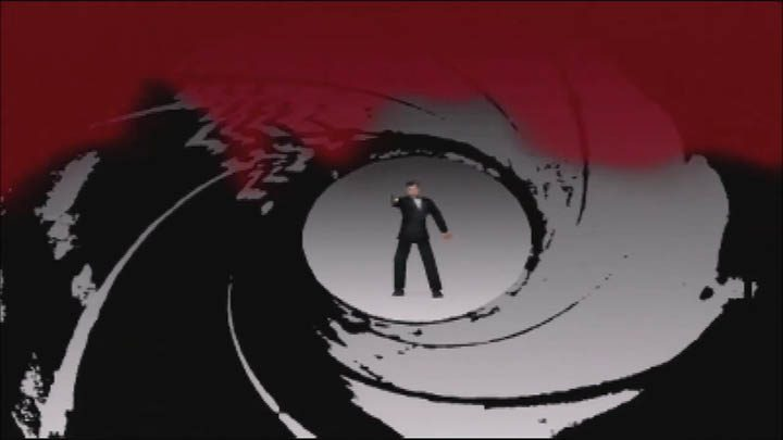 Roger Moore in 64-bit form in the cinematic intro to The Spy Who Loved Me 64 GoldenEye 007 mod