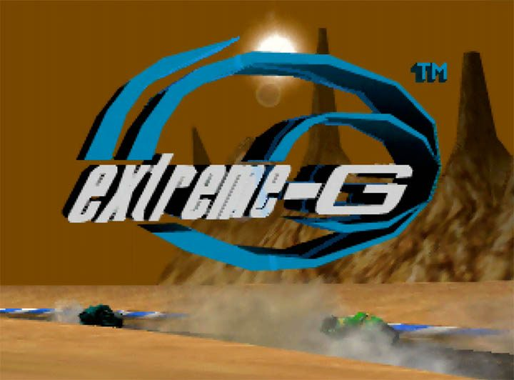 Extreme-G title screen (N64 version)