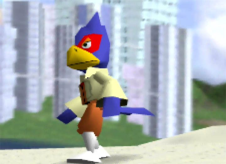 Play as Falco in Super Smash Bros. 64 thanks to the Smash Remix mod.