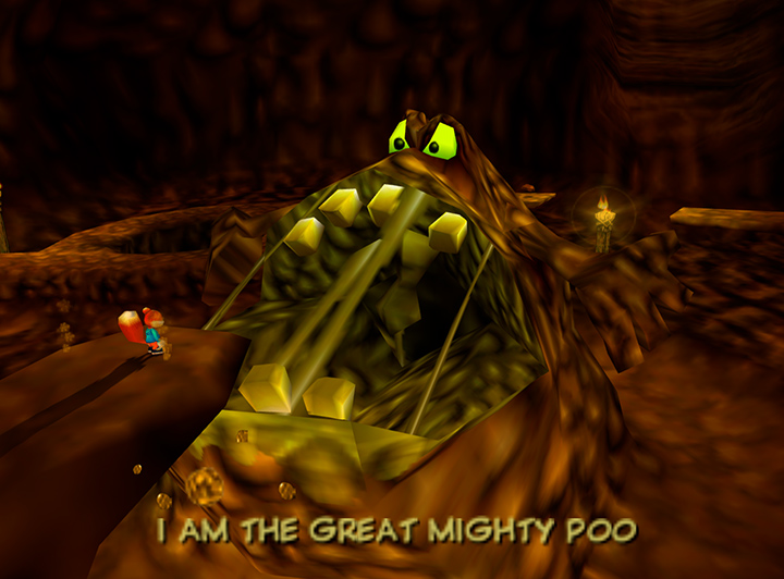 The Great Mighty Poo rises in Conker's Bad Fur Day on Xbox One.