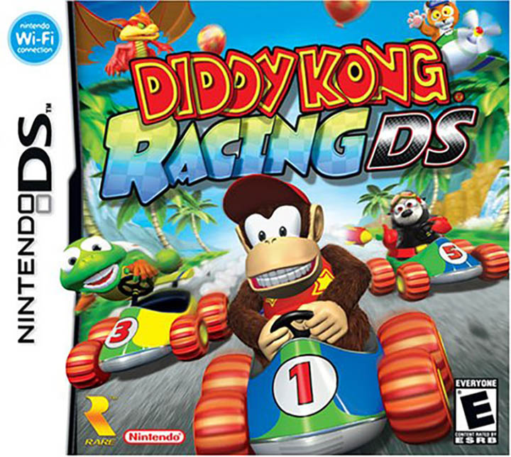 The box art for Diddy Kong Racing DS