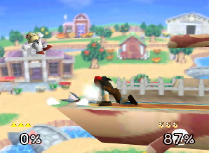 Ganondorf launches Dr Mario in Super Smash Bros. 64