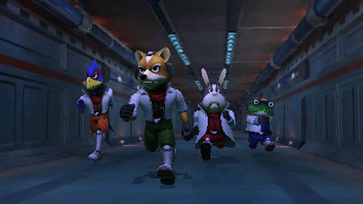 The Star Fox team prepare for launch in the intro to Star Fox 64 3D.