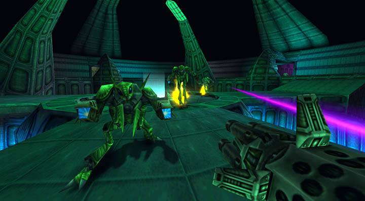 Hive of the Mantids stage in Turok 2: Seeds of Evil remastered for modern gaming systems.
