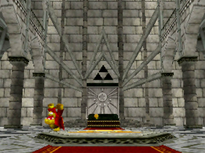 The Temple of Time recreated in Banjo-Kazooie: Smash Bros. Temple mod.