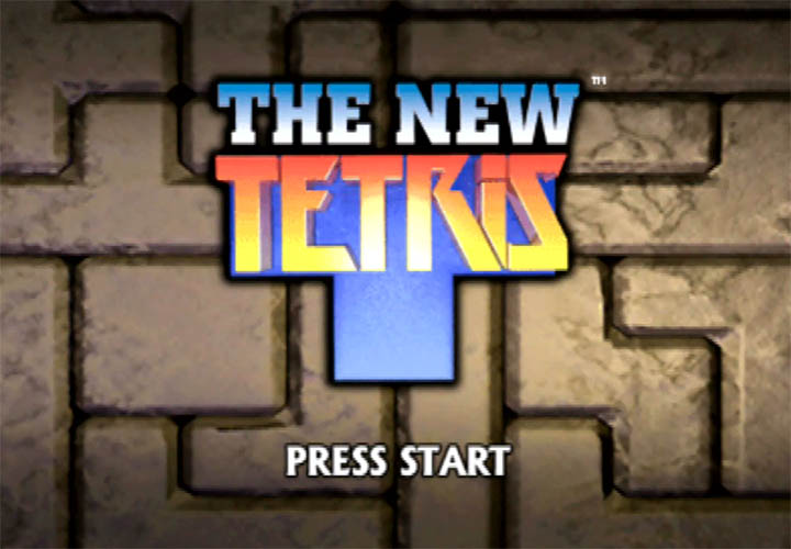 The title screen for The New Tetris on Nintendo 64.
