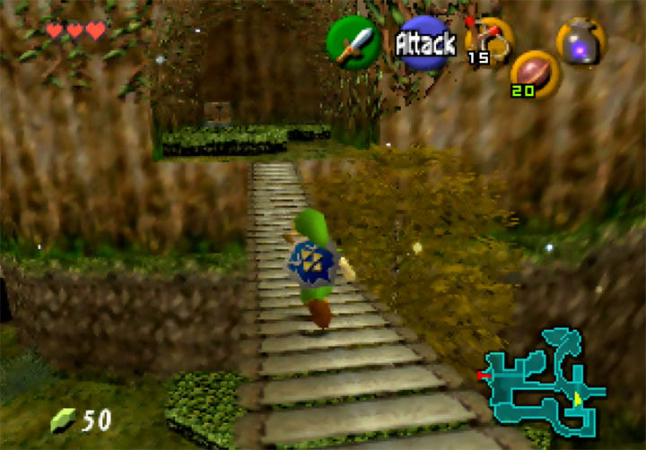 Crossing a bridge in Zelda 64: Dawn & Dusk on Nintendo 64