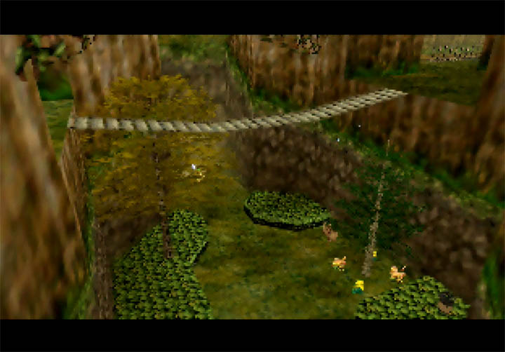 The verdant landscape of Dawngrove in Zelda 64: Dawn & Dusk for N64.
