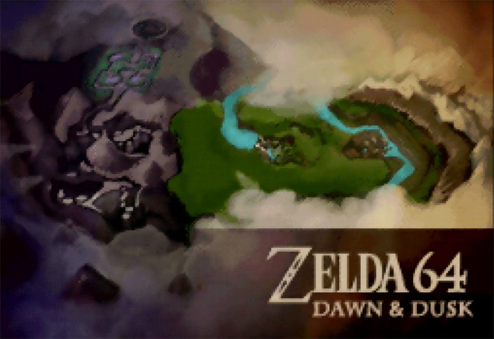 The title card for Zelda 64: Dawn & Dusk, an Ocarina of Time 64DD expansion.