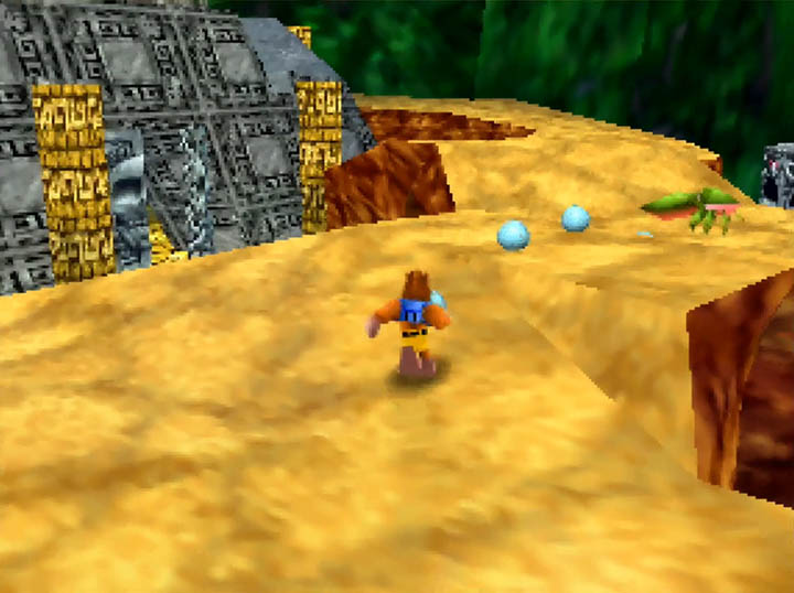 Banjo discovers a nearby temple in Rich Ruin Cove.