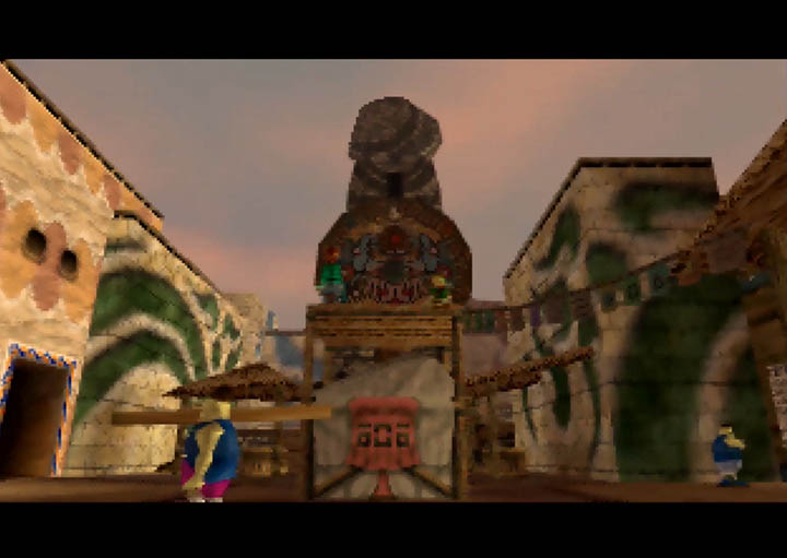 Clock Town's Clock Tower from The Legend of Zelda: Majora's Mask.