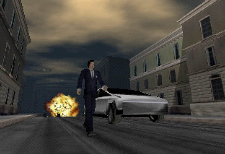 James Bond walks away from exploding petrol vehicles after successfully testing the Tesla Cybertruck.