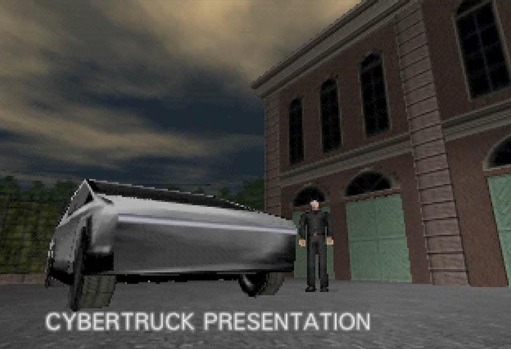 The mission intro to GoldenEye 007 Cybertruck mod.