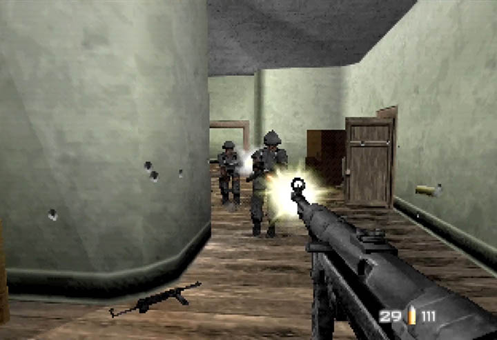 Bond mows down German soldiers in this WW2-themed GoldenEye 007 mod for N64.