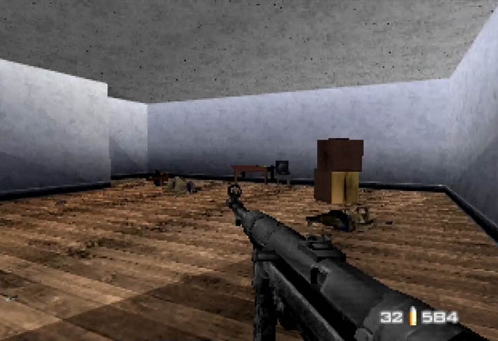 The dreaded torture room filled with dead allied soldiers in GoldenEye 007 mod WW2 City.