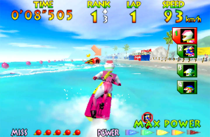 Ayumi Stewart, one of four playable characters in Wave Race 64.