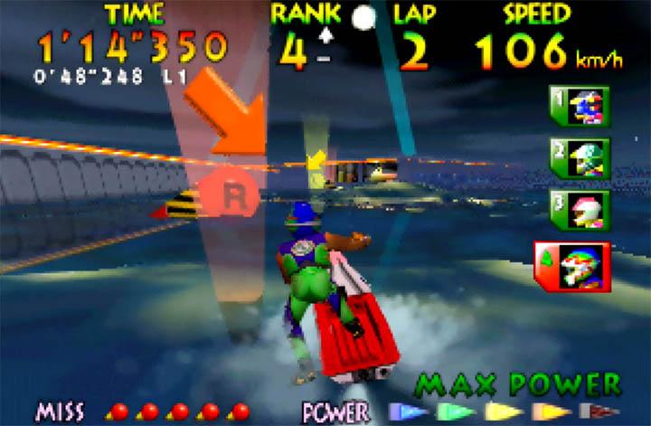 Wave Race 64's Twilight City course
