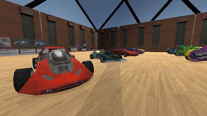 San Francisco Rush 2049 vehicles in Auto Museum 64