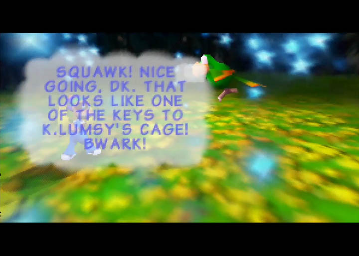 "Squawks calls Tiny ""DK"" in Donkey Kong 64."