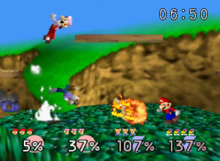 Spiral Mountain stage in Super Smash Bros. 64