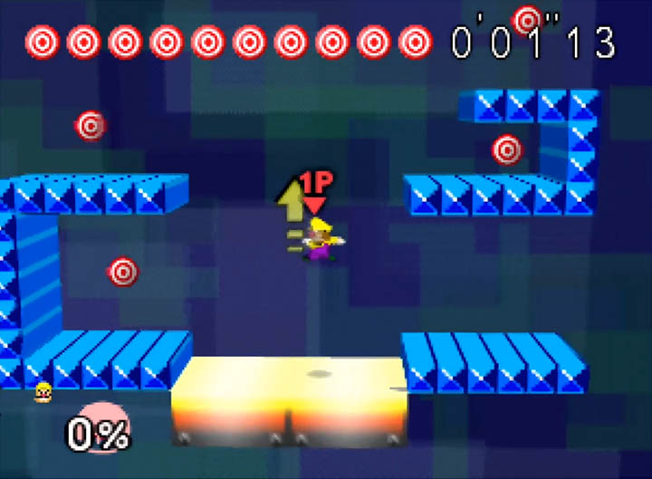 Wario's custom Break the Targets stage