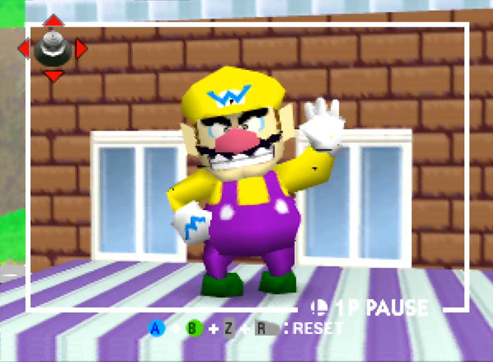 Wario, as seen in Smash Remix, a Super Smash Bros. 64 mod.