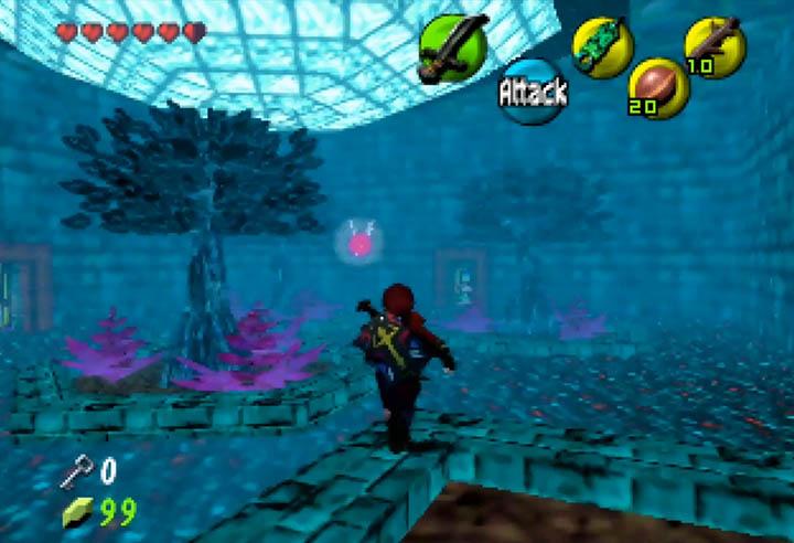 An underground courtyard in Dark Hyrule Fantasy