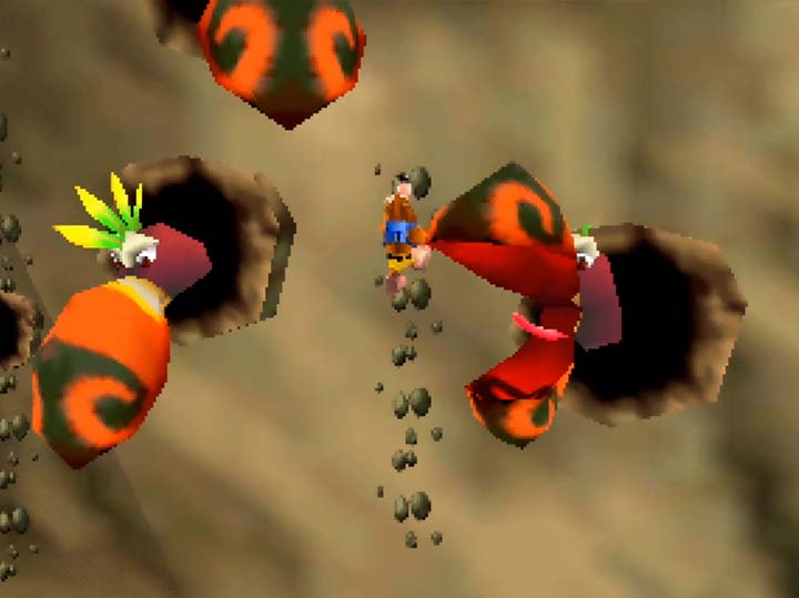 Treacherous platforming around Big Cluckers in Banjo-Kazooie: Jiggies of Time.