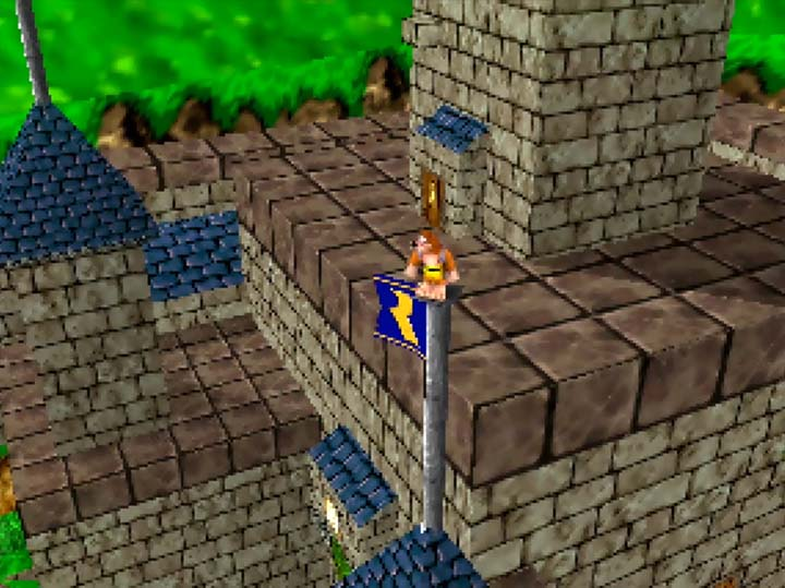 Ocarina of Time's Hyrule Castle rooftop, as seen for the first time in The Legend of Banjo-Kazooie: The Jiggies of Time.