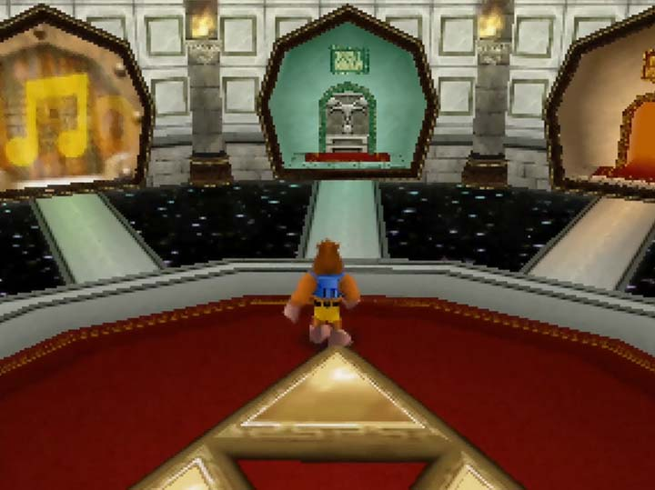 The fast-travel hub in Banjo-Kazooie: Jiggies of Time.
