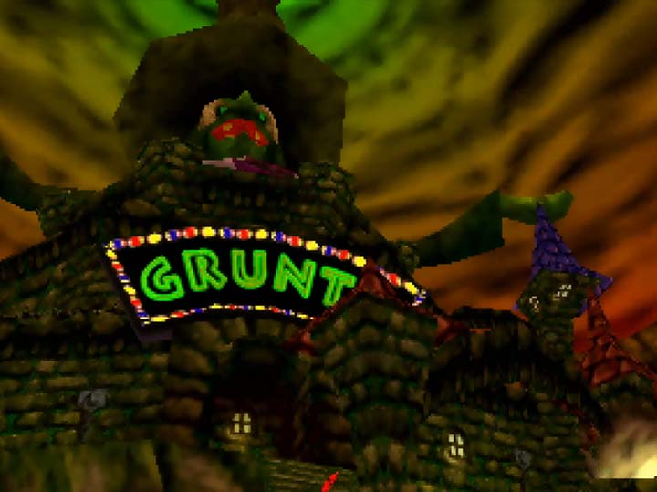 Grunty's Castle -- Banjo-Kazooie: The Jiggies of Time.