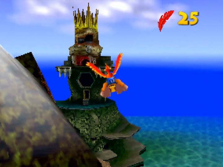The Blast-O-Matic weapon from Donkey Kong 64.