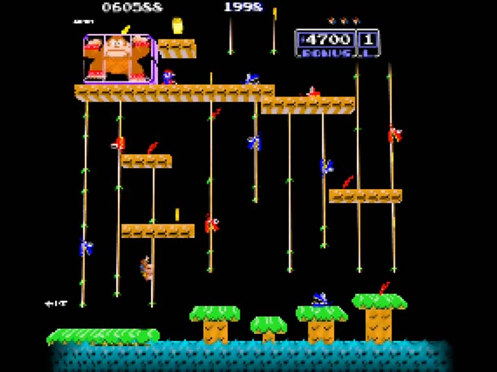 Donkey Kong Junior mini-level in Banjo-Kazooie: Stay At Home mod.
