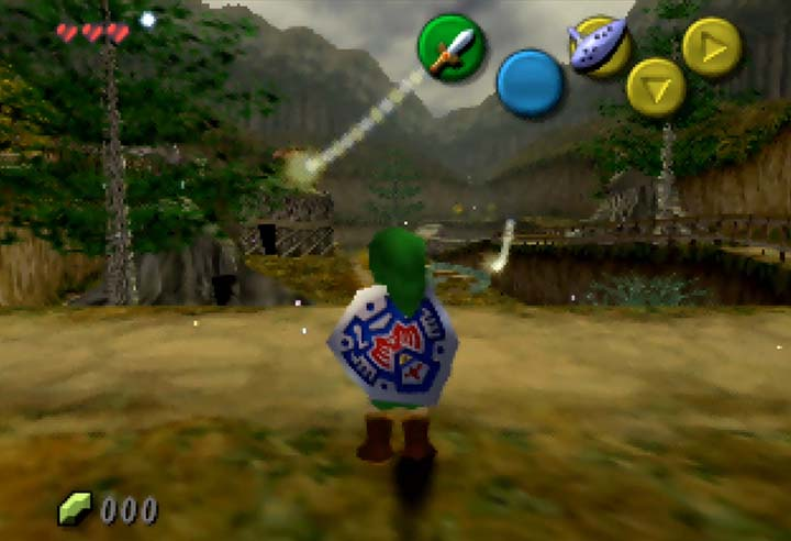The revamped Kokiri Forest in The Legend of Zelda: The Missing Link on Nintendo 64.