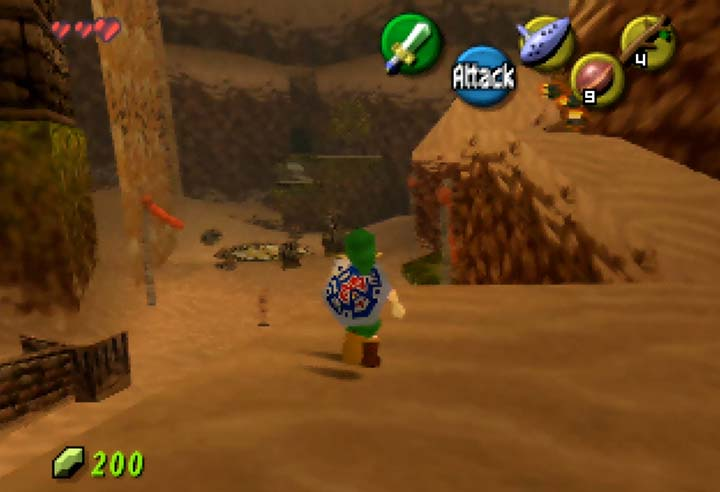 Link walking through Monktown Valley.