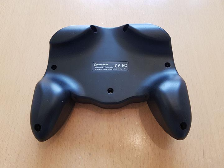 Underside of Hyperkin's Admiral N64 controller.